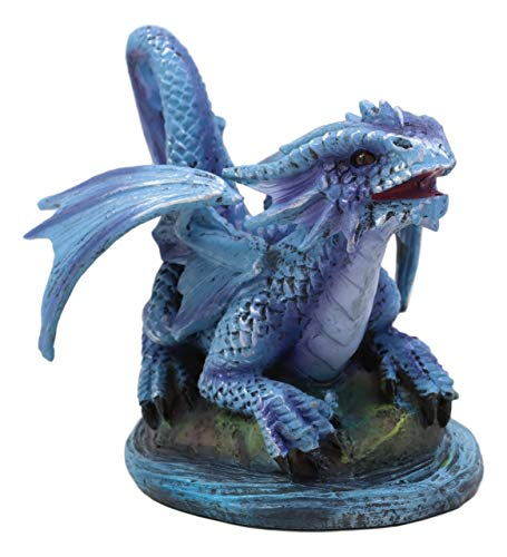 Ebros Aqua Elemental Pearl Water Dragon Collectible Statue Mythical Fantasy Age of Dragons Behemoth of The Sea Figurine Artwork by Anne Stokes (Baby Wyrmling Dragon)