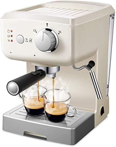 MISLD Cafetera presión 15 Bar/termómetro observable / 1,25 l / 1.050 vatios/una Espuma de Leche más fácil al Vapor en la sede de Uso/Home - Blanco