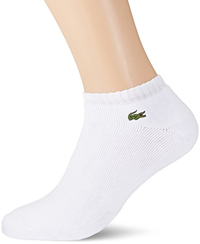 Lacoste Sport RA6315 Calcetines, Blanco (Blanc/Argent Chine