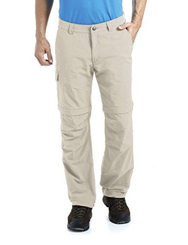 Maier Sports Pantalon Convertible zippé pour Homme, 100% PA en 12 Tailles, Pantalon Fonctionnel, d'extérieur, de randonnée, à Zip, séchage Rapide L/XL