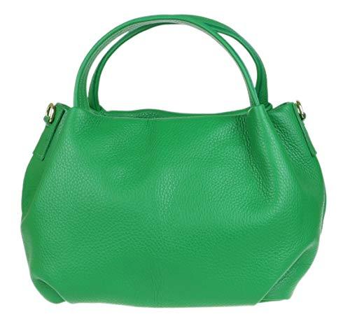 Girly Handbags Bucket Genuine Leather Handbag (Light Green)