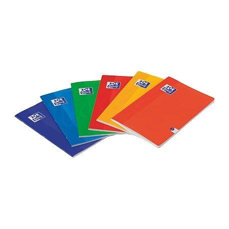 Oxford 100105713 - Libreta, 48 hojas, A5, pautado 2.5 mm, con margen, surtido: colores aleatorios