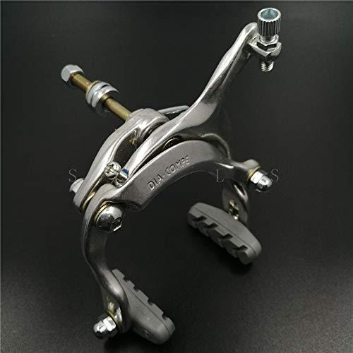 Bicicleta de la Palanca del Freno Tipo C Calibre 61-69mm Camino de aleación de Aluminio Plegable Bicicleta MTB Urbano de la Ciudad de Bicicletas de Frenos (Color : Silver 1PCS)