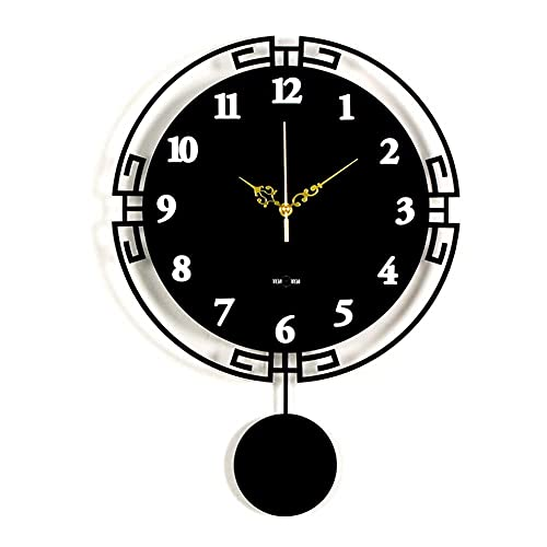 WSDDNXM Orologi da Parete Modern Decro Clock al Quarzo Silenzioso Senza ticchettio Creativo Altalena in Acrilico Decorazione da Parete per Cucina Camera da Letto Ufficio, Regalo di Scuola