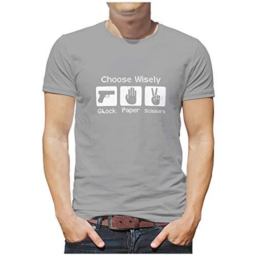 DOGCATPIG Camiseta de manga corta con texto 'Choose Wisely Vintage para fans de la oficina'.