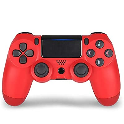 Wireless Controller for PS4 Remote for DualShock 4, Game Control Compatible for Playstation 4 V2,Red