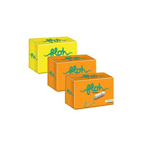 FLOH FDA Approved Regular & 2 Super Tampons for Women Heavy Flow - 30 Pieces (Pack of 3)