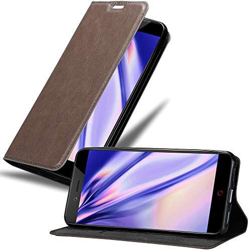 Cadorabo Hülle für ZTE Nubia Z17 Mini in Kaffee BRAUN - Handyhülle mit Magnetverschluss, Standfunktion & Kartenfach - Hülle Cover Schutzhülle Etui Tasche Book Klapp Style