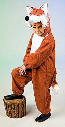 Disfraz de zorro Animales Disfraz Zorro Para Niños–Tamaño 116