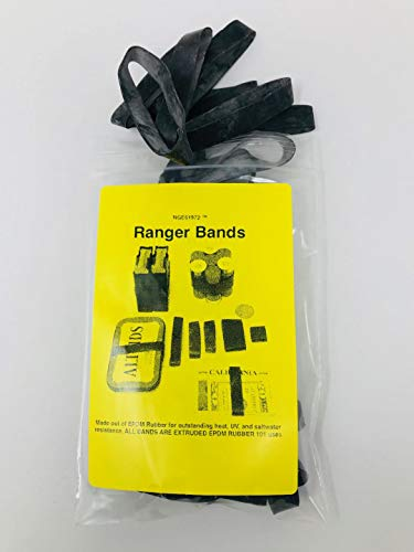 Ranger Bands Large 20 Count Made from EPDM Rubber for Survival and Strapping Gear Made in The USA NGE61972