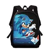 Sonic Mochila Animal Erizo Impreso Bolsas De La Escuela Azul Sonic Cartoon Book-Bag Preescolar Guardería Niños Bolsas De La Escuela para Niños Bebé