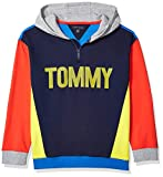 Tommy Hilfiger Boys' Adaptive Hoodie Sweatshirt with Extended Zipper Pull, Navy, M
