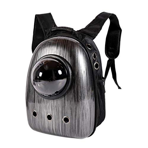#N/A Cat Backpack Carrier Bubble Bag, Small Dog Backpack Carrier for Pets, Space Capsule Pet Carrier Backpack Travel Carrier - Black