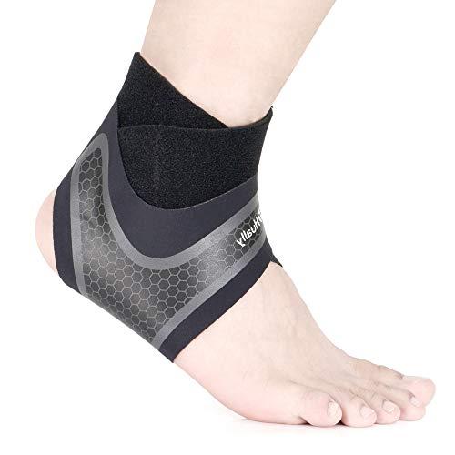 Hually Sprunggelenkbandage, 【1 Paar】 Knöchelbandage für Damen Herren, Fußbandage Unterstützt alle Größen, Fussgelenkbandage, Fußgelenkstütze stützt den Fuß beim Sport, Für Den Sportschutz
