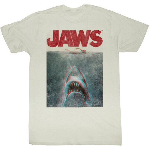Mens Retro Jaws In Terrifying 3D T Shirt XXL - Chest 44-46in