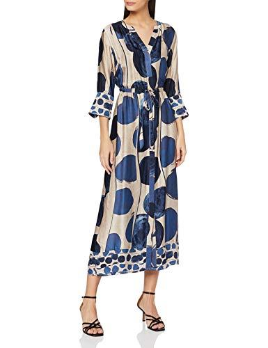 ESPRIT Collection Damen 100EO1E307 Kleid, 413/BRIGHT Blue 4, 40