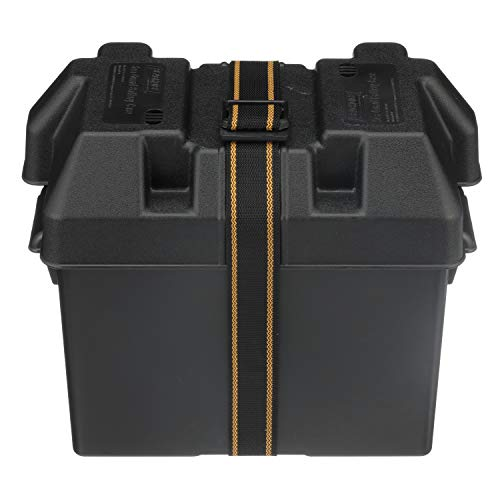 Seachoice 22080 USCG-Approved Marine Group 27 Series Standard Battery Box with Strap & Mounting Kit, One Size