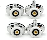<span class='highlight'><span class='highlight'>Linwnil</span></span> Set of 4 new Oval singel wheel Shower door rollers 20mm