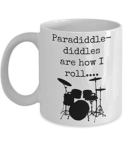 Tasse Paradiddles Becher Schlagzeuger Becher Schlagzeuger Geschenke Paradiddle Diddles Sind, Wie Ich Keramik Lustige Neuheit Geschenkidee Kaffeetasse Geschenk Personalisierte Geschenk Kaffeetasse