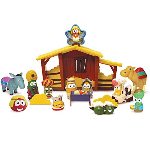 Blue Box Veggie Tales Nativity Set