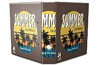 バインダー 2 Ring Binder Lever Arch Folder A4 printed Summer California