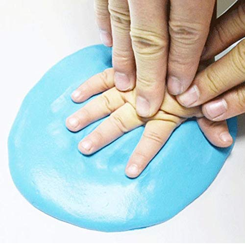 Sunnyflowk Baby handprint mud (bleu)