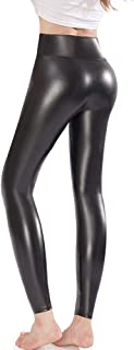 Faux Leather Leggings Pants Stretchy High Waisted Tights...
