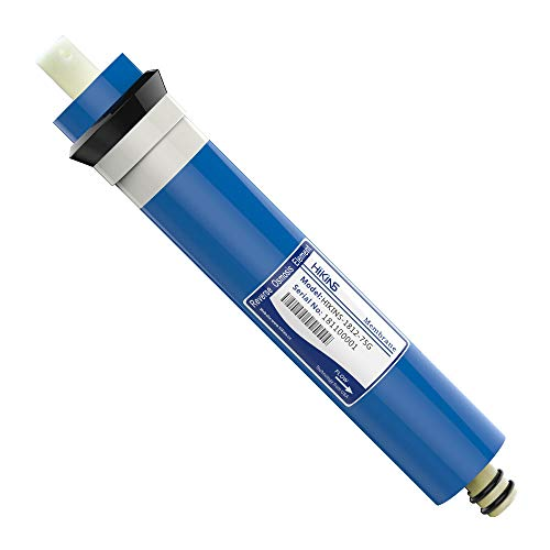 HiKiNS Universal-Umkehrosmose-Membran 50/75/100/125/150GPD für 5-stufiges Trinken zu Hause, RO Wasserfiltersystem, 1 Stück 1812-75G [Energieklasse A+++]