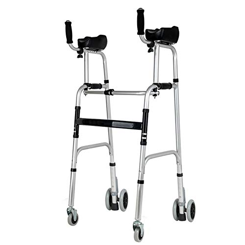 YXX- Rollator Gehhilfen Senioren Schwerlast Behindert Faltbarer Walker Mit Schulterstütze Und 400 Lbs Kapazität, Indoor Outdoor Medical Rollator Für Senioren Und Ältere Menschen Gehwagen