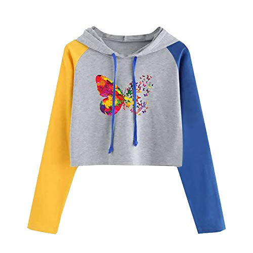 VEMOW Damen Hoodie, Frauen Solid Langarm Casual Einfarbig Sweatshirt Tops Bluse