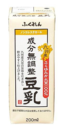 ふくれん くれん 九州産ふくゆたか大豆成分無調整豆乳 200ml×24個 [1215]