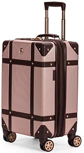 SWISSGEAR 7739 Trunk, Hardside Spinner Luggage, Carry-on - Blush