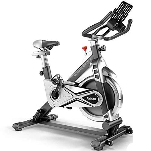 YANGSANJIN Bicicletta da Ciclismo Interna oscillante, Cyclette silenziosa, con Supporto per iPad e Cellulare, Ammortizzatore a Molla, Regolabile ha (Sport)