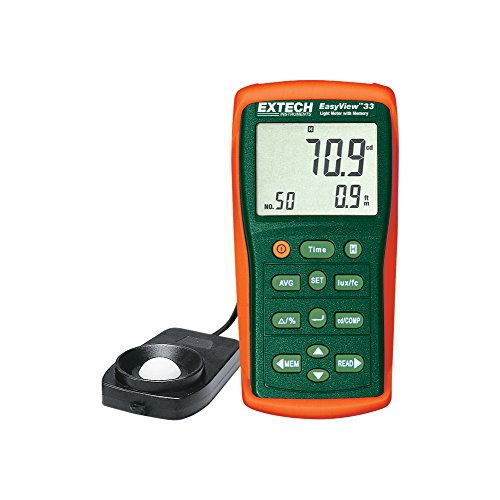 Extech EA33 Easy View Light Meter with Memory