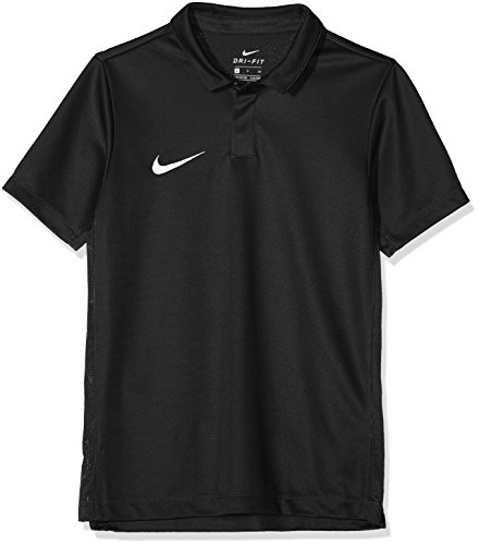 Nike Kinder Dry Academy18 Football Polo Shirt, Schwarz (Black/Anthracite/White/010), Gr. M