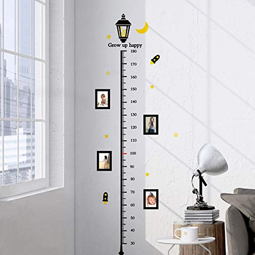 LGDBY Street Light Hauteur Mesure Stickers Muraux PVC DIY Enfants Stickers Muraux pour Enfants Chambres Bébé Chambre Décoration