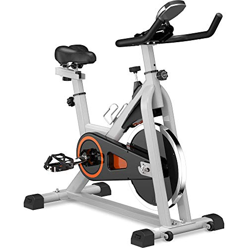 Big Save! Kuke Indoor Exercise Bike Stationary, Belt Driven Smooth Exercise Cycling Bike with Oversi...