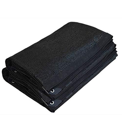Shade Sails Planta 90% de cifrado Espesa el paño de la Cortina del hogar Uso Agrícola Balcón Patio Sun Net 22 Tamaños (Color : Black, Size : 6x9m)