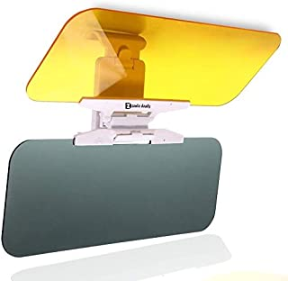 Zento Deals Transparent Windshield Car Sun Visor Day and Night Vision Anti-glare