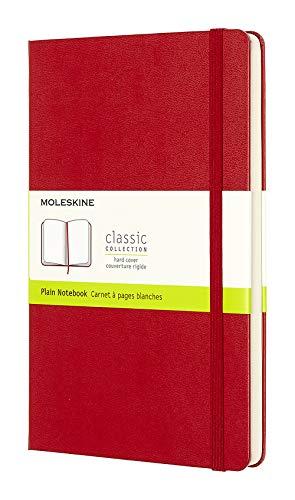 Moleskine Taccuino Notebook Classic, Large, Pagine Bianche, Rosso, 240 Pezzi