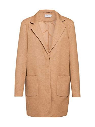 ONLY Damen Übergangsjacke ONLARYA Light Coat Camel S