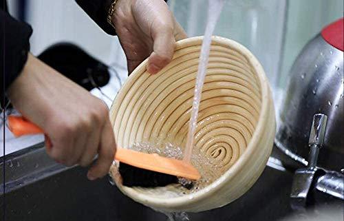 ZXD Trash kann versuchen, den Brotlaib Teig Ofen Geschenke für Backhefe Körbe Versorgung für Mutter Abstreiferblätter Cut Brot Too-Coated Fabric,9 x 7 x 3.75 pollici