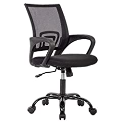 BUILT FOR COMFORT - Our mesh office/computer chair is built for long-lasting comfort. And easily adjusted for height, the locking mechanism keeps the back upright and relieves the stress and pain brought on by other office chairs. ERGONOMIC DESIGN - ...