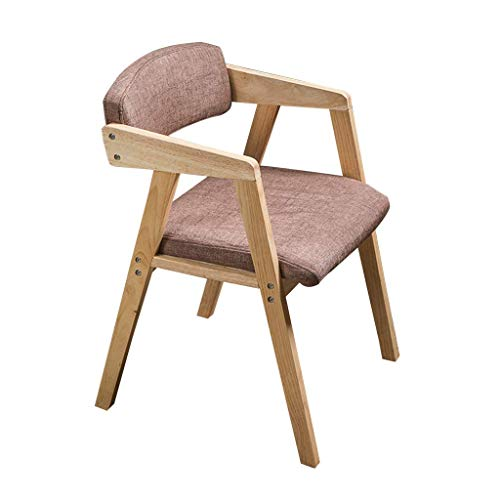 YAMEIJIA Silla de Comedor Retro con reposabrazos sillón de Madera Oficina salón...