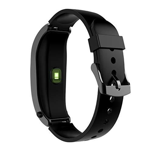 Reloj inteligente,CHshe,Reloj inteligente y auriculares 2 en 1 Android iOS Fitness Calorie Wristband Smart Watch (Plata)
