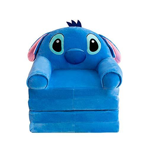 Disney Pequeños Encantador Sofá para Niños Sofá Perezoso Individual Juguetes De Peluche Asiento De Suave Regalos De Cumpleaños para Niños,Azul,150CM