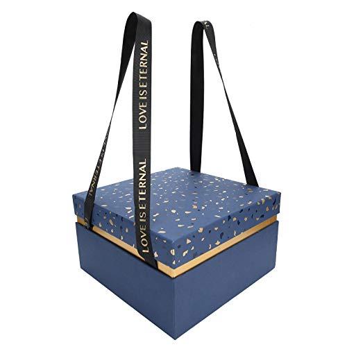 Caja contenedor de Regalo, Caja de Regalo de Papel Multiusos Caja de Almacenamiento de Regalo Caja de Regalo de Boda para(Blue [Single Gift Box])