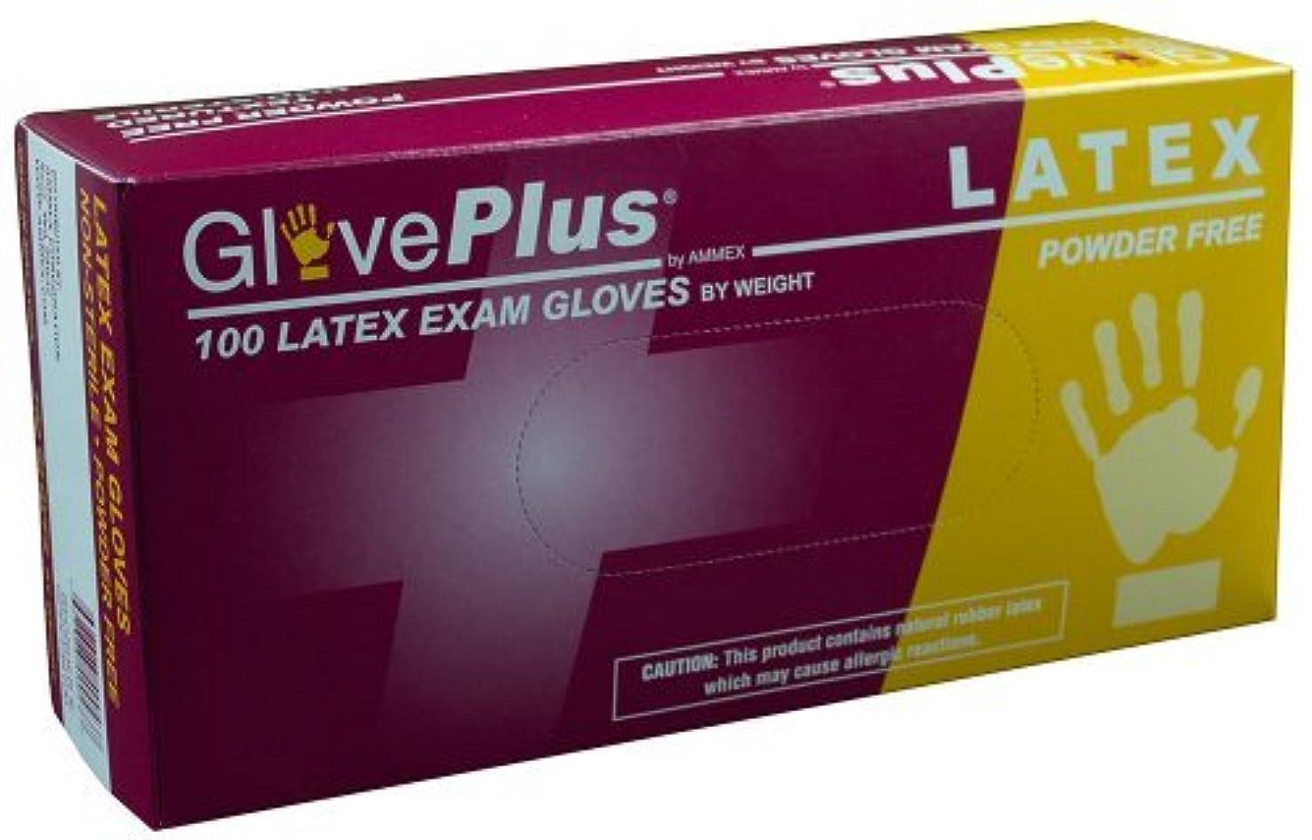 試みクローン取るAMMEX - GPPFT48100-BX - Latex Gloves - GlovePlus - Disposable Powder Free Exam 4 mil Extra Large White (Box of 100) [並行輸入品]