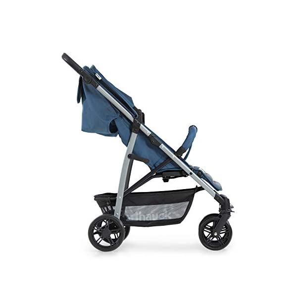 Hauck Rapid 4, 0 Months to 22 kg, Foldable, Compact, with one Hand, with Sleep Position, Height Adjustable Handle, Large Basket - denim/grey, Rapid 4, Up to 25 Kg Hauck Easy folding this pushchair is as easy to fold away as possible - the comfort stroller can be folded with one hand only within seconds, leaving one hand always free for your little ray of sunshine Long use this buggy can be used for a very long time. it is suitable from birth (also compatible with 2in1 carrycot or comfort fix infant car seat) up to a maximum of 22kg Comfortable back friendly push handle adjustable in height, the hood extendable; suspension, swivelling front wheels, soft padding, and large shopping basket 14