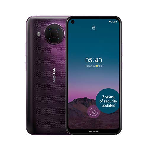 Nokia 5.4 6.39 Inch Android UK SIM Free Smartphone with 4 GB RAM and 64 GB Storage (Dual SIM) - Dusk